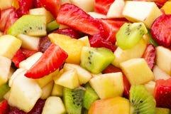 新鲜被切各种各样的果子 免版税库存照片