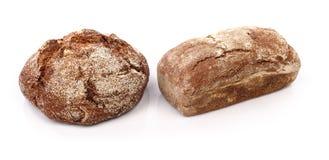 新鲜面包分开在白色背景 免版税图库摄影