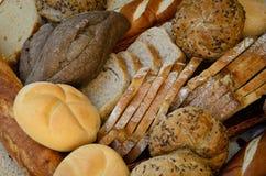 新鲜面包品种  库存图片