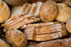 新鲜面包品种  免版税库存照片