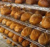新鲜面包店的面包 库存图片