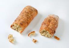 新鲜面包的ciabatta 图库摄影