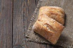 新鲜面包的ciabatta 免版税图库摄影