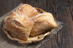 新鲜面包的ciabatta 库存图片