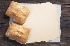 新鲜面包的ciabatta 免版税库存图片