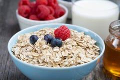 新鲜食品一顿健康早餐,特写镜头 库存照片