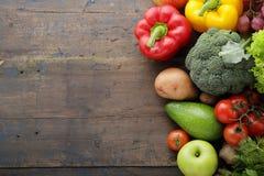 新鲜食品土气背景 免版税图库摄影