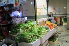新鲜食品市场在香港 库存图片