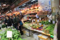 新鲜食品市场在香港 免版税库存图片