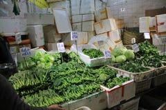 新鲜食品市场在香港 库存照片