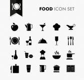 新鲜食品餐馆菜单象集合。 免版税库存图片