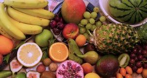 新鲜,健康,有机果子的分类 免版税库存图片