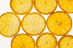 新鲜水果切抽象无缝的样式背景,桔子 免版税图库摄影