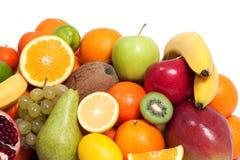 新鲜水果在白色背景中 免版税库存照片