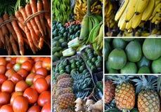 新鲜水果拼贴画 图库摄影