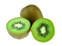 新鲜水果查出的猕猴桃白色 库存照片