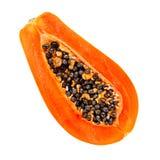 新鲜水果查出的番木瓜热带白色 免版税库存照片