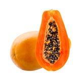 新鲜水果查出的番木瓜热带白色 免版税库存图片