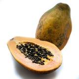 新鲜水果查出的番木瓜热带白色 图库摄影