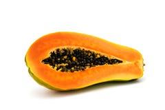 新鲜水果查出的番木瓜热带白色 库存照片