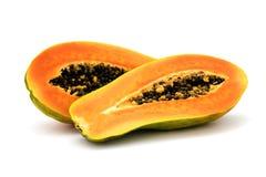 新鲜水果查出的番木瓜热带白色 库存图片