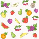 新鲜水果样式 免版税库存图片