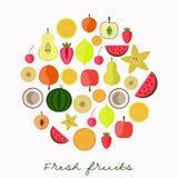 新鲜水果汇集 库存图片