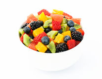 新鲜水果沙拉混合 免版税库存图片