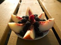 新鲜水果沙拉 图库摄影
