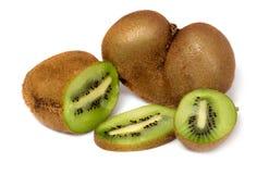新鲜水果猕猴桃部分 免版税图库摄影