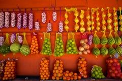 新鲜水果立场 图库摄影