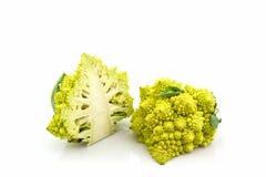 新鲜绿色菜, Romanesco硬花甘蓝,罗马花椰菜 免版税库存照片