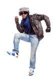 新黑人冷静跳舞的人 库存照片