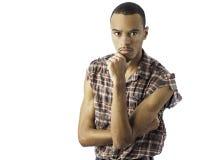 新黑色男性认为 免版税库存图片