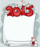 新年与公羊的空白2015年 免版税库存图片