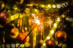 新年党闪烁发光物 库存图片