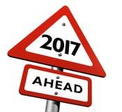 新年前面2017年 库存照片