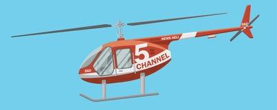 新闻直升机图象 免版税库存图片