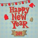 新年贺卡概念。 免版税库存照片