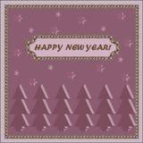 新年卡片与愿望新年好 图库摄影