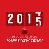 2015新年卡片测路器样式 库存图片