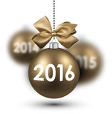 2016新年卡片 库存例证