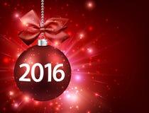 2016新年卡片 向量例证