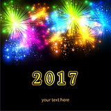 2017新年卡片 免版税图库摄影