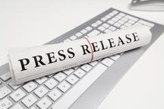 新闻发布 免版税图库摄影