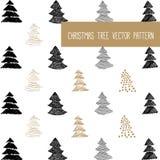新年和圣诞快乐样式 免版税库存照片