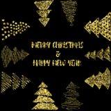 新年和圣诞快乐球 免版税库存照片