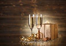 新年和圣诞节庆祝 库存图片