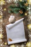 新年和圣诞节明信片 库存图片