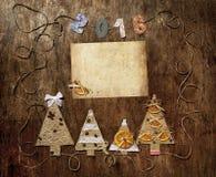 新年和圣诞节明信片 免版税图库摄影